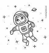 Coloring Space Astronaut Printable Drawing Simple Spaceman Outer Line Astronauts Preschool Drawings Spaceship Diggs 4kids Printables Popular Boy Getdrawings Visit sketch template