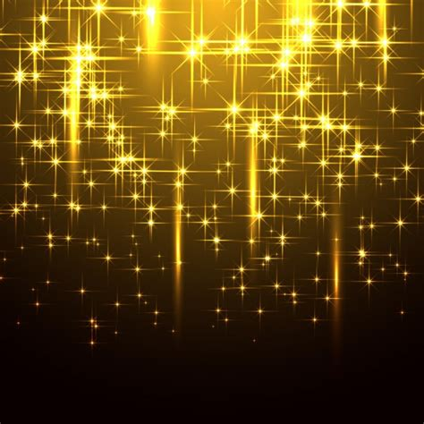 Sparkling Image Sparkling Yellow Background Vector Free