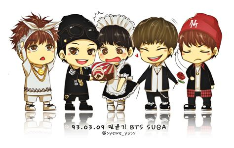 Bts 01 5 Versions Of Suga By Syewe-yoss On Deviantart