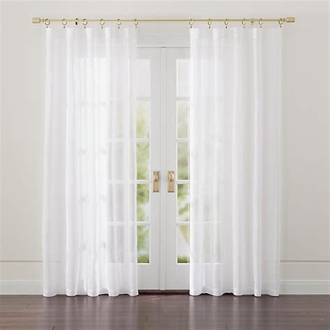 linen sheer white curtains crate  barrel