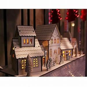 Maison De Noel Miniature : deco village de noel fait maison ~ Nature-et-papiers.com Idées de Décoration