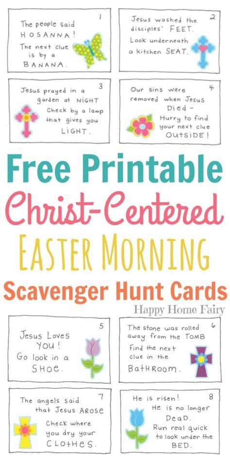 Easter Scavenger Hunt Printable