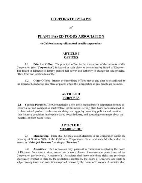 9 corporate bylaws templates pdf free premium templates