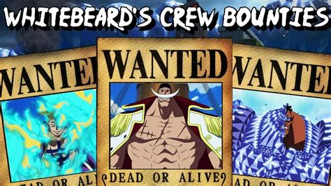 Whitebeard's Crew Bounties