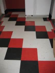 Red and White Checkerboard Flooring