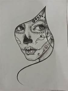 black and white sugar skull girl tattoo - Google Search ...