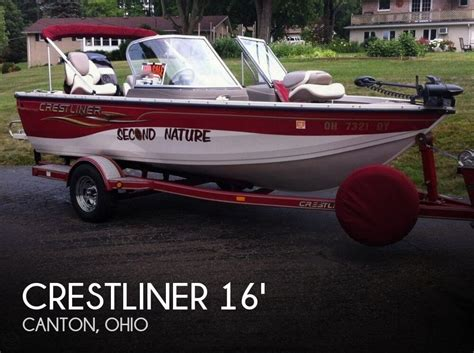 Crestliner Boats In Ohio by Sold Crestliner 1650 Sport Angler Boat In Canton Oh 114715