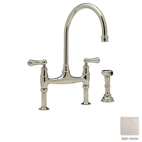 rohl country kitchen bridge faucet rohl 3 leg bridge country kitchen faucet with sidespray 7790