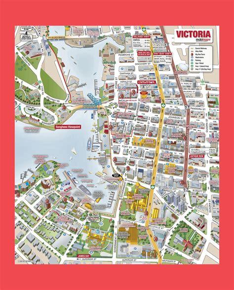 victoria city tourist map victoria city bc mappery