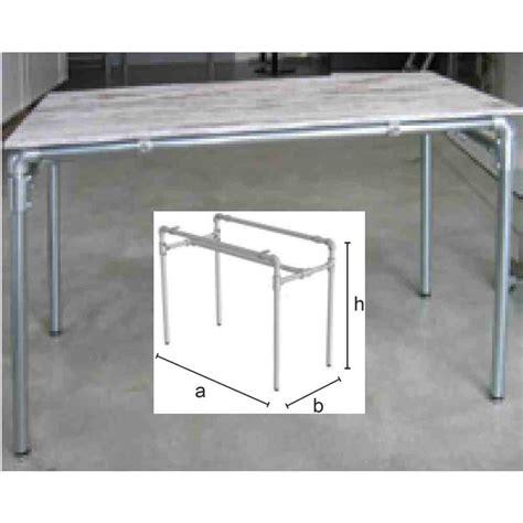 struttura tavolo struttura per tavolo per piano mm 1200x600 realizzata con