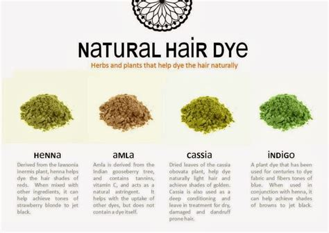 Natural Hair Dye Brief Info About Four Different Plant