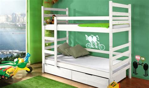 lit superpos pour 2 enfants en bois massif avec tiroirs et