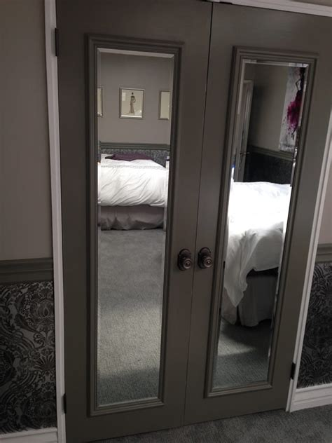 closet door mirror install  haves mirror closet