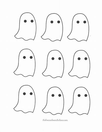 Halloween Template Garland Ghost Diy Ghostly Templates