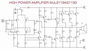 High Power Audio Amplifier Mjl21194  Mjl21193