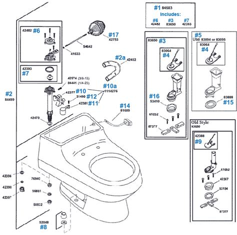 Kohler Rialto Toilet Repair Parts