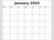 January 2025 Free Online Calendar