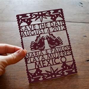 Festive wedding invitations laser cut wedding stationery for Laser cut mexican wedding invitations
