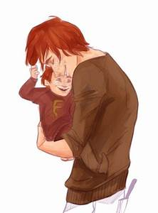 harry potter fan art: george weasley with his son freddie ...