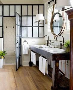 Meuble Salle De Bain Vintage : mille id es d am nagement salle de bain en photos ~ Teatrodelosmanantiales.com Idées de Décoration