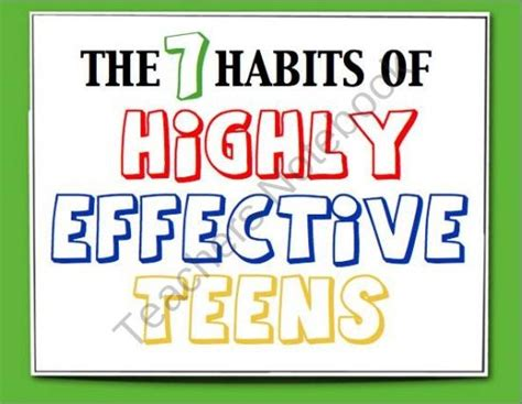 17 Best Images About Highly Effective Teens On Pinterest