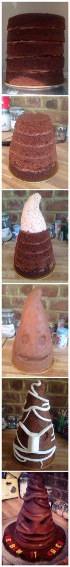 harry potter sorting hat cake step  step tutorial