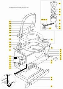 Thetford C4 Cassette Toilet Diagram