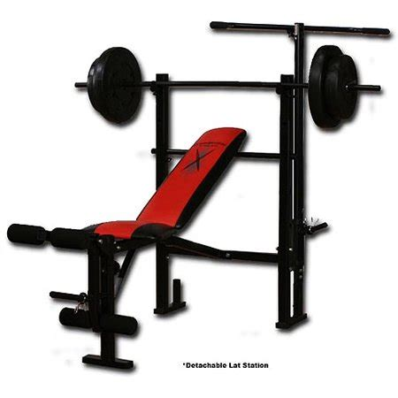 Competitor Weight Bench With 80pound Weight Set Walmart