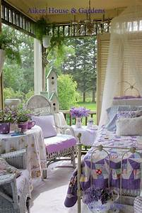 the summer porch ~ vintage quilt,wicker and lilacs - Model