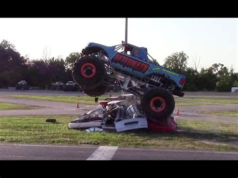 youtube monster truck show aftermath jump competition at monster truck show in clio