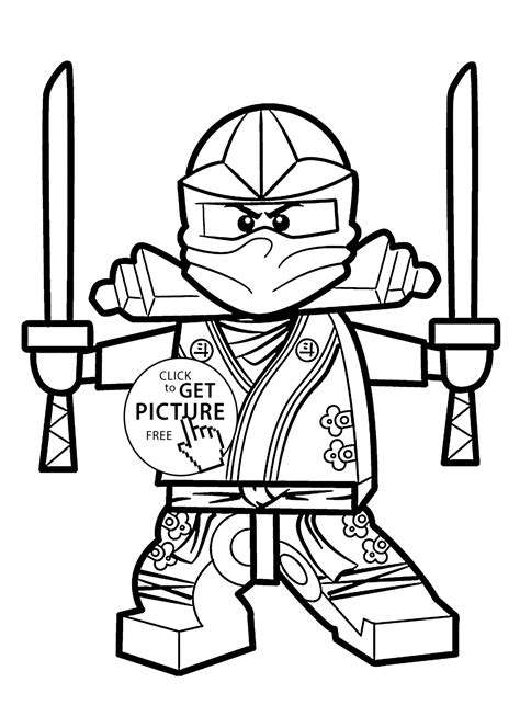 green ninja coloring pages  kids printable  lego