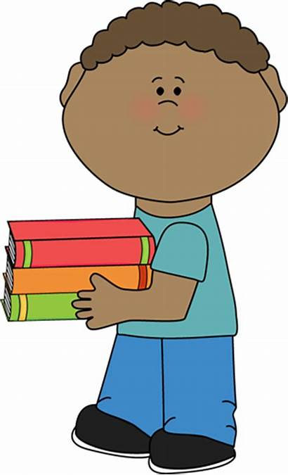 Clipart Holding Boy Clip Books Cliparts Reading