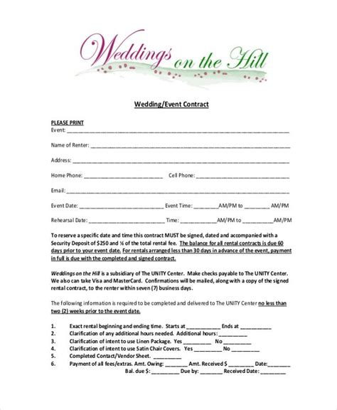 image result  wedding planner contract form wedding