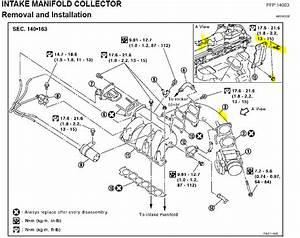 replacing spark plugs on a 35l nissan murano 2004 i have With 2000 nissan altima intake manifold diagram