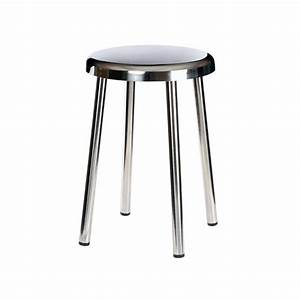 Tabouret De Bar Inox : equipement salle de bain tabouret 4 pieds acier inoxydable ~ Teatrodelosmanantiales.com Idées de Décoration