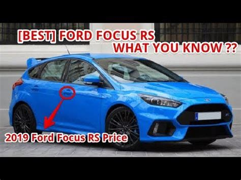 ford focus rs price youtube