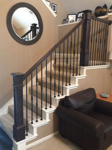 Metal Banister Railing by 25 Best Ideas About Newel Posts On Staircase