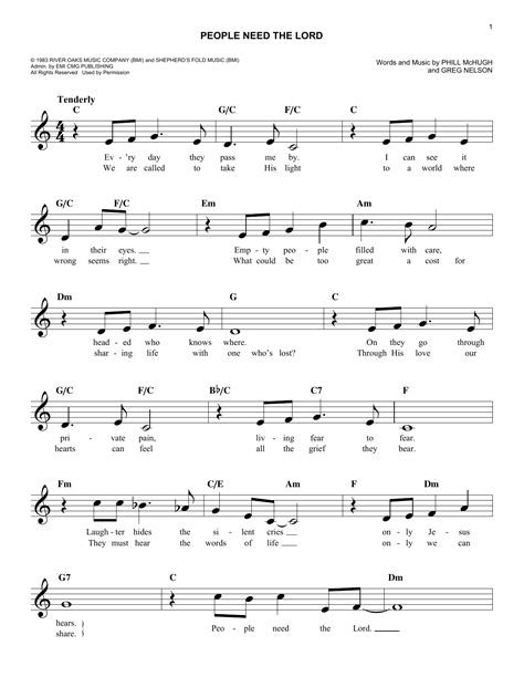 people need the lord sheet music direct