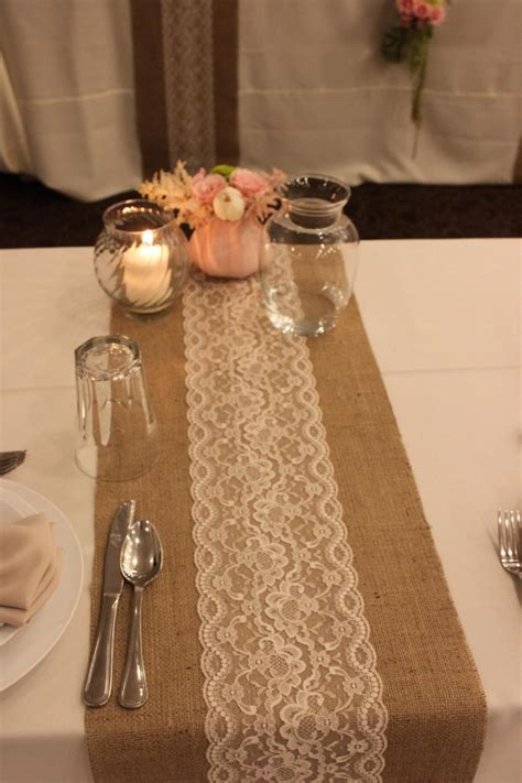 burlap table runner with lace sale 12 ft 12 x 144 burlap lace table runner wedding