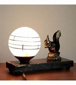 Petite Lampe De Chevet : petite lampe de chevet veilleuse art d co marbre opaline et r gule la nouvelle raffinerie ~ Teatrodelosmanantiales.com Idées de Décoration