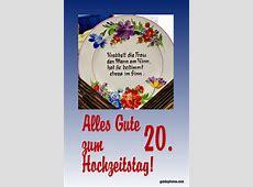 20 Hochzeitstag kostenlose Karten für die Porzellanhochzeit