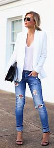 Spring Style Staple Womenu0026#39;s White Blazer | Bags Blazers and Ray ban aviator