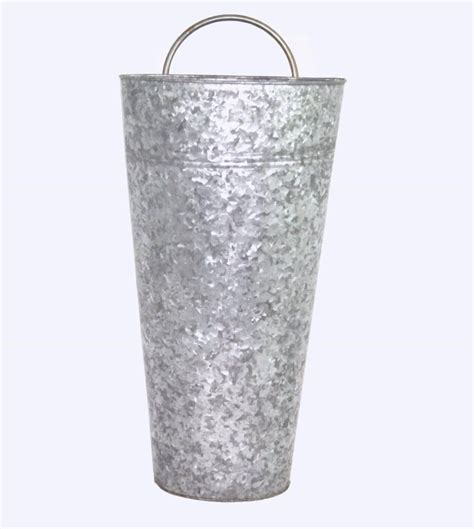 Looking for decorative organization essentials? Medium Galvanized Hanging Wall Bucket, Find these at www.beuncommonboutique.net | Hanging ...