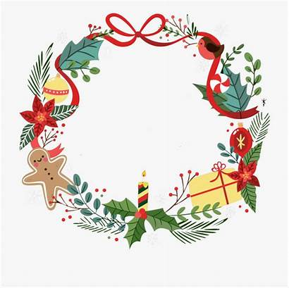 Wreath Christmas Border Transparent Clipart Cartoon Borders