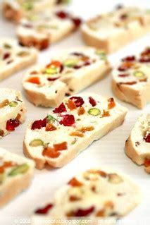 I have compiled an alphabetic list of biscotti by flavor or ingredient. Pistachio, Cranberry & Apricot Biscotti | saw this pretty ...