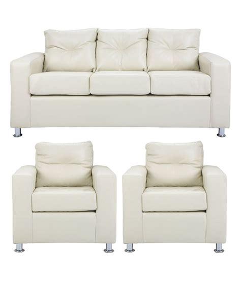 Alessia Leather Sofa 3 Set by Pallazio 5 Seater Sofa Set 3 1 1 In White Buy Pallazio