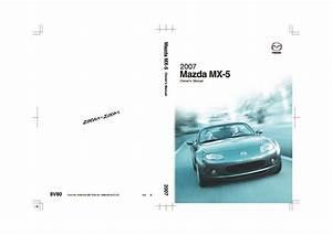 2007 Mx5 Miata Owners Manual Pdf  5 88 Mb
