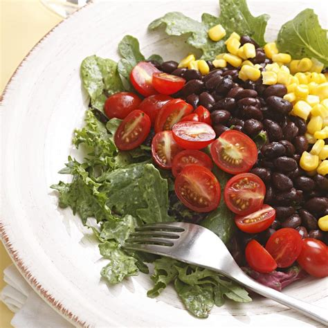 southwestern salad with black beans recipe eatingwell