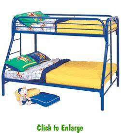 Fordham Twin Over Full Metal Bunk Bed With Side Ladders By