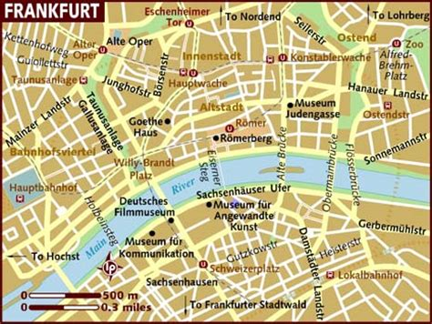 germany map frankfurt